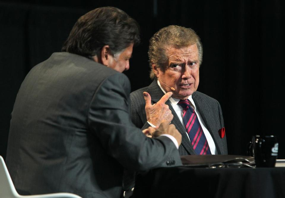 ALKING TURKEY: TV host Regis Philbin onstage at the New England Food Show at the Boston Convention & Exhibition Center on March 11.